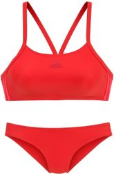 adidas Fit 2Pc 3S Dames Bikini - Active Red