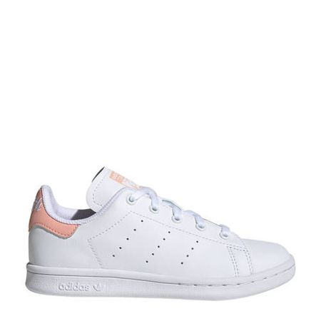 adidas Originals Stan Smith C leren sneakers wit/lichtroze