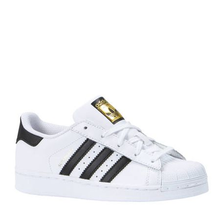 adidas originals Superstar sneakers wit/zwart