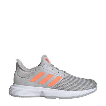 adidas Performance GameCourt tennisschoenen lichtgrijs/oranje