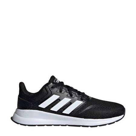 adidas Performance Run Falcon hardloopschoenen zwart/wit kids