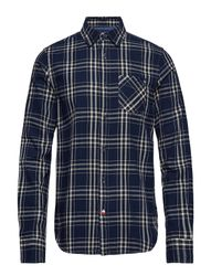 Ams Blauw Brushed Cotton Checked Shirt