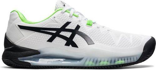Asics Gel-Resolution 8 Clay Tennisschoenen Heren Wit