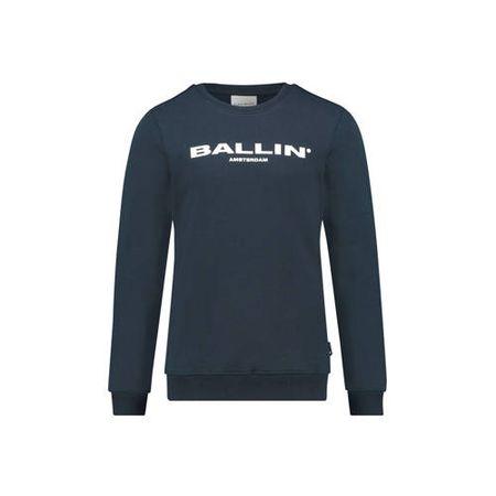 Ballin Amsterdam Junior by Purewhite sweater met logo donkerblauw