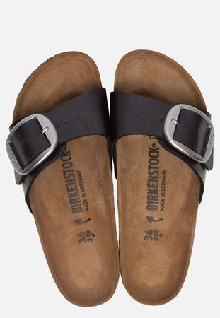 Birkenstock Madrid Big Buckle slippers zwart