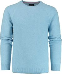 Born with Appetite Ben R-neck Pullover Fancy Kni 19105BE11/210 l.blue