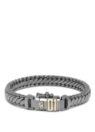 Buddha to Buddha Ben XS Black Rhodium armband van zilver