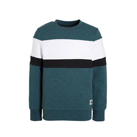 C&A sweater groen/wit/zwart