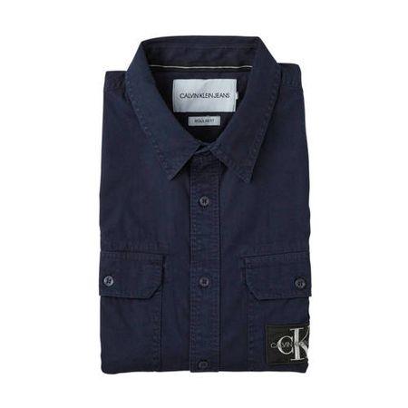 CALVIN KLEIN JEANS regular fit overhemd donkerblauw