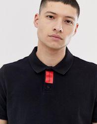 Calvin Klein Jeans - Smalle, piqué polo-Zwart