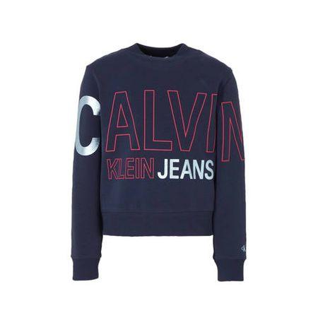 CALVIN KLEIN JEANS sweater met logo donkerblauw