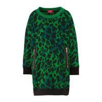 Claesen's sweatjurk met ritszakken panterprint groen