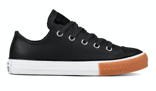 Converse All stars kids leather 661868c zwart