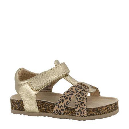 Cupcake Couture sandalen met panterprint goud