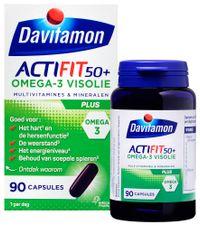 Davitamon Actifit 50 Plus Omega-3 Visolie Capsules 90st