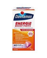 Davitamon Energie boost forte kauwvitamines 40 tabletten