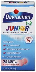 Davitamon Junior 1-3 Aardbei Smelttabletten
