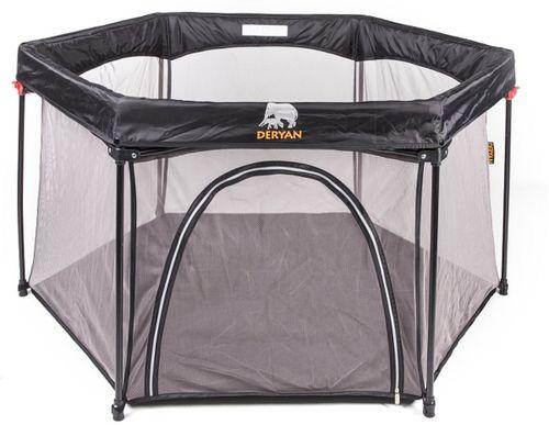 Campingbed Matras Opvouwbaar.Deryan Portable Playpen Kinder Box Met Vaste Matrasbodem Opvouwbaar