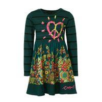 Desigual gebloemde jersey jurk groen