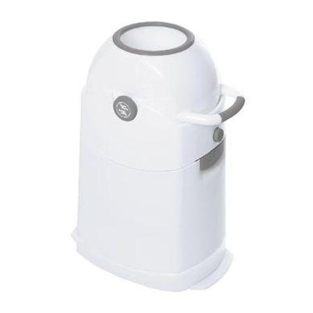 Diaper Champ  Luieremmer zilver Regular - Wit