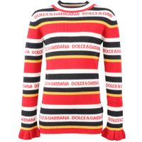 Dolce and Gabbana Kids Pull collo alto wit