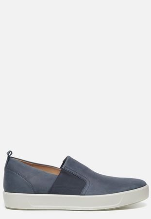Ecco Soft 8 instappers blauw