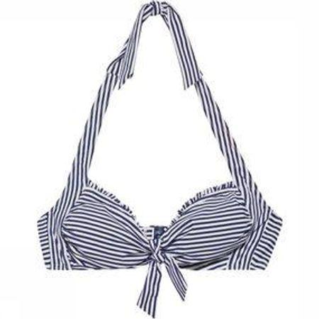 Esprit Clearwater BeachPadded Halterneck Bikinitop Donkerblauw/Wit