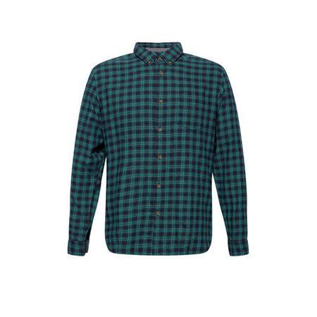 ESPRIT Men Casual geruit slim fit overhemd groen