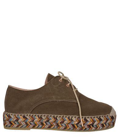 Fred de la Bretoniere-Sneakers-Espadrille Espadrille Lace Up Suede-Taupe