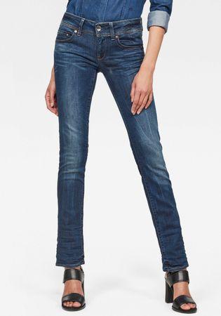 G-Star RAW straight jeans Midge Saddle Straight 5-pocketsmodel met markante stiknaden
