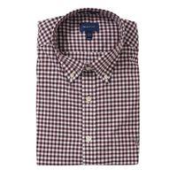 GANT geruit regular fit overhemd rood/wit
