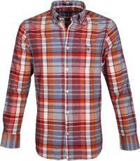Gant Overhemd Madras Rood
