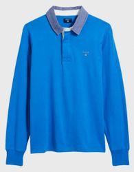 Gant Polo Lange Mouw Blauw   2XL