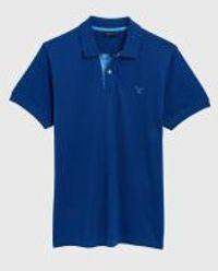 Gant Polo Regular Fit Blauw   M