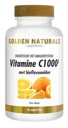 Golden Naturals Vitamine c1000 met bioflavonoiden 90 tabletten