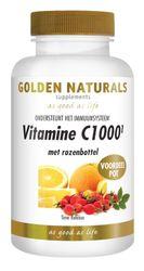 Golden Naturals Vitamine c1000 met rozenbottel 250 vegetarische tabletten