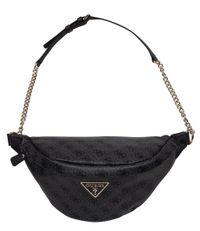Guess Crossbodytassen Leeza Large Belt Bag Zwart
