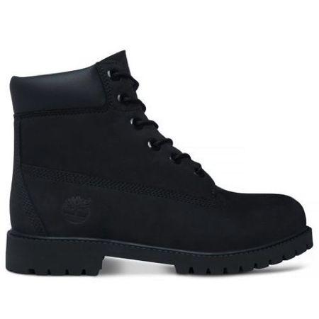 Icon 6-Inch Premium Boot Junior Black Nubuck