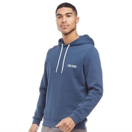 JACK AND JONES Heren The End Hoodie Donkerblauw