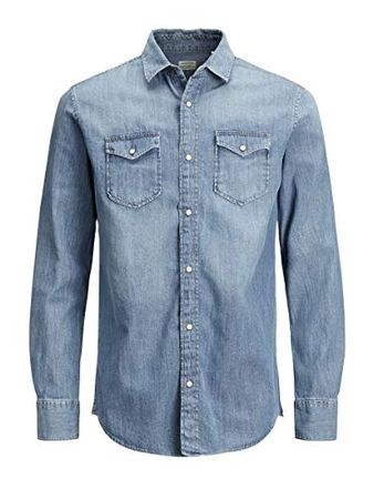 JACK & JONES Heren Jjesheridan Shirt L/S Jeanshemd