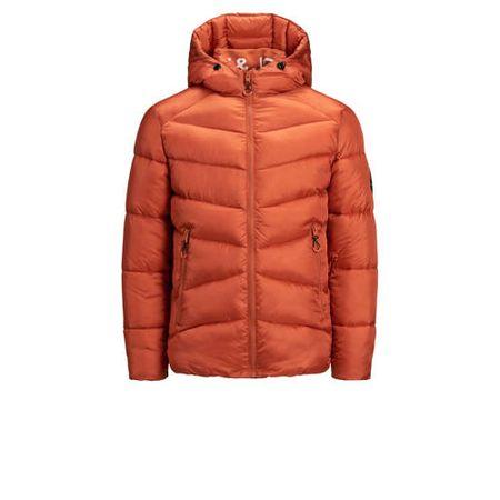 JACK & JONES JUNIOR gewatteerde winterjas Ander donker oranje