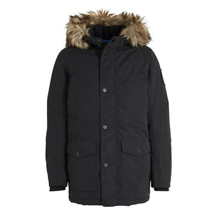JACK & JONES JUNIOR parka winterjas Sky zwart