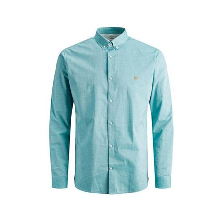 JACK & JONES PREMIUM slim fit overhemd lichtblauw