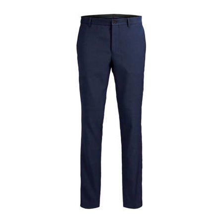 JACK & JONES PREMIUM slim fit pantalon Solaris donkerblauw