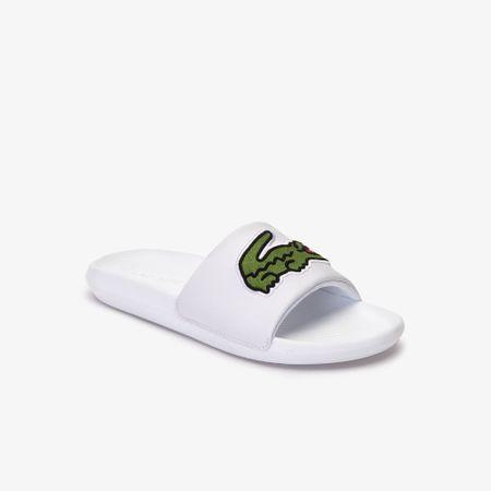 Lacoste Croco Slide Wit / Groen