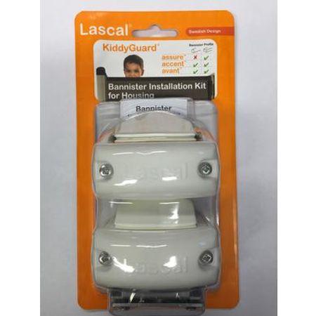 Lascal  Buisbevestiging Rolzijde voor alle Kiddy Guards - Set 2 stuks, wit - Wit