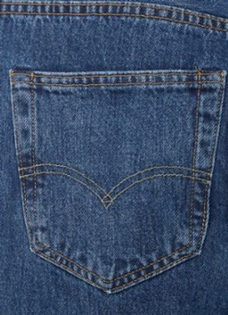 Levi's 501 straight fit jeans met donkere wassing