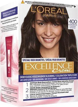 L'Oréal Paris Excellence Haarverf -  400 True Brown