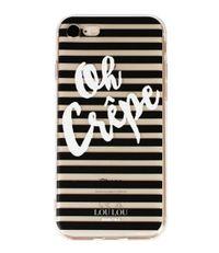 LouLou Essentiels Smartphone covers Cute Case Oh Crepe iPhone 7 Zwart