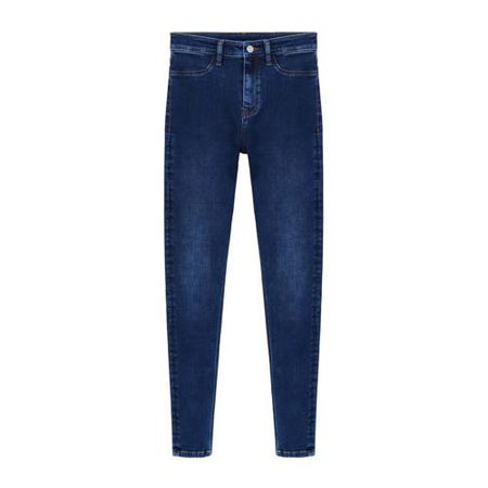 Mango high waist skinny jegging blue